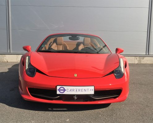 hire ferrari 458 spider french riviera thanks to car4rent