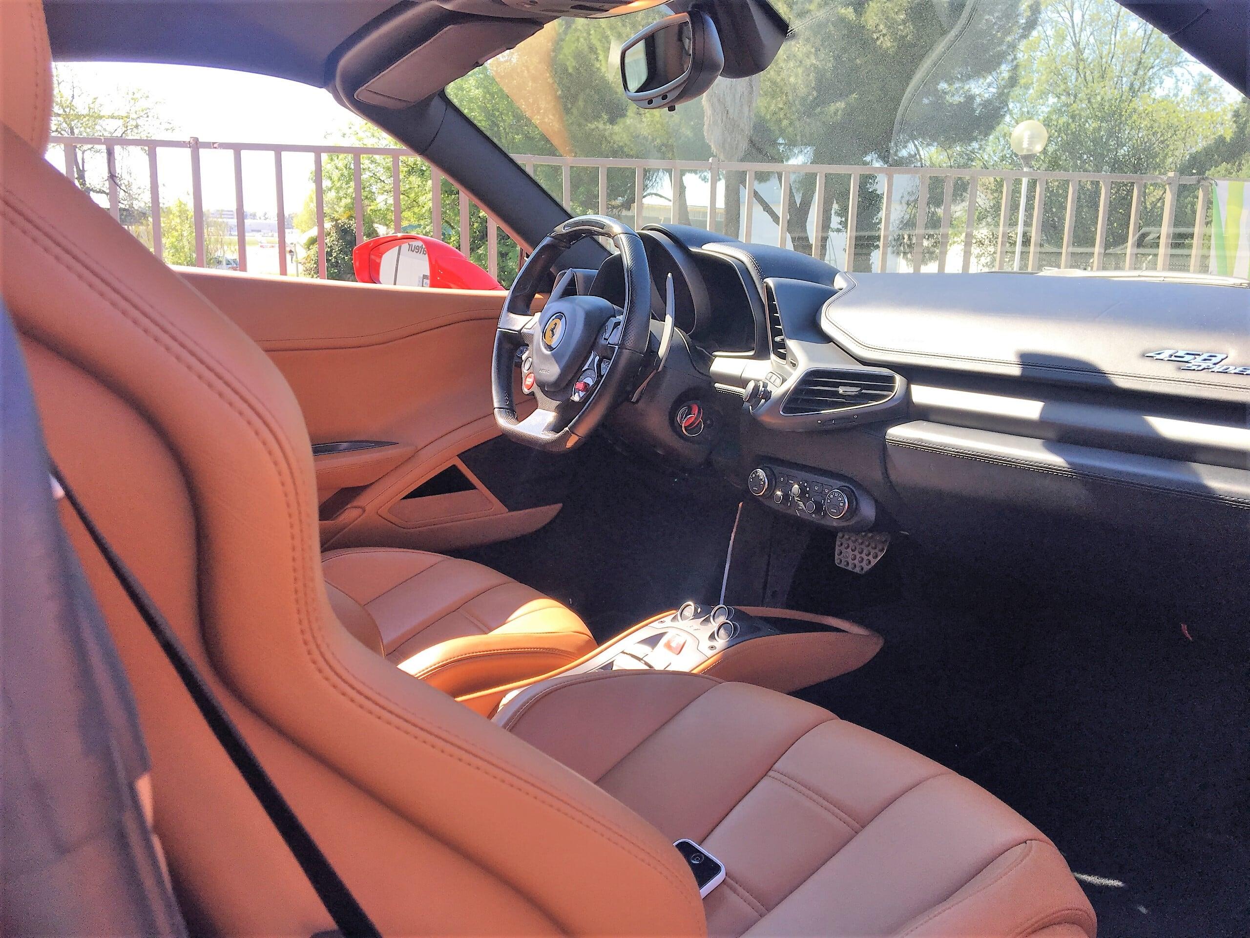 discover ferrari 458 spider interior Car4rent
