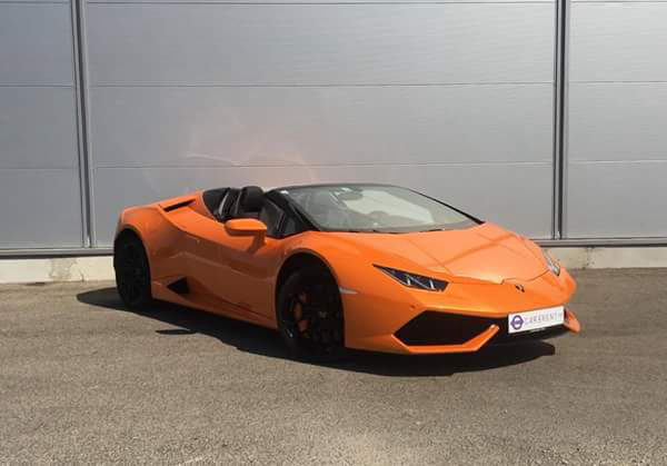 hire lamborghini huracan spider french riviera car4rent