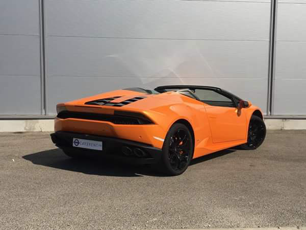 rent lamborghini huracan spiuder france thanks to car4rent