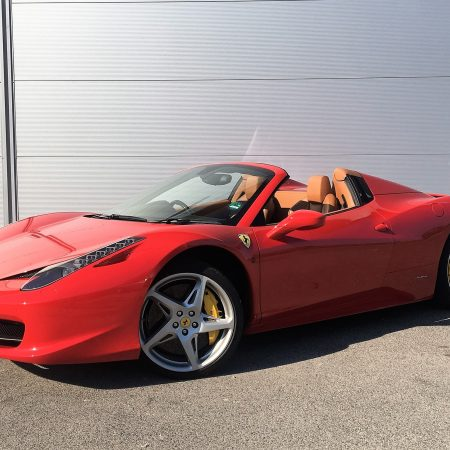 hire ferrari 458 spider cannes Car4rent