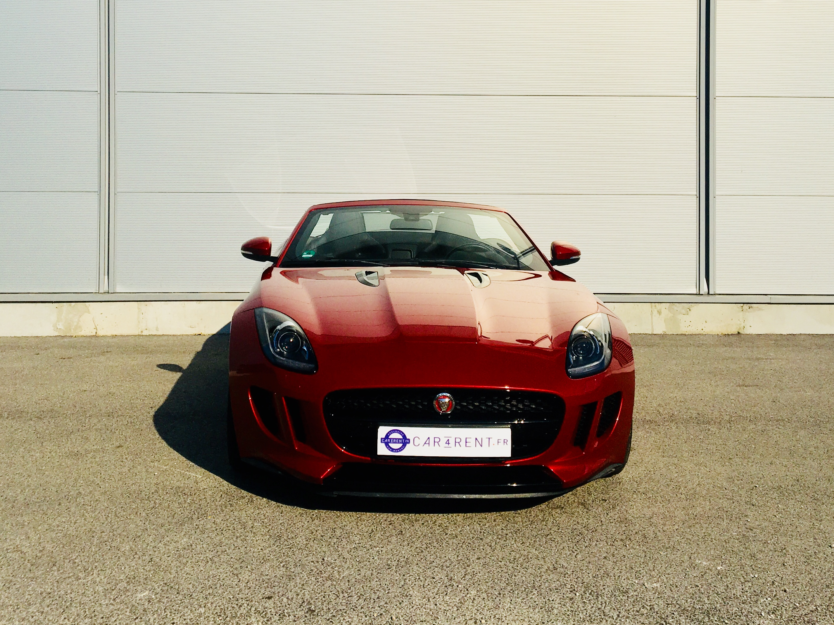hire jaguar F-Type Convertible car4rent luxury car rental cannes