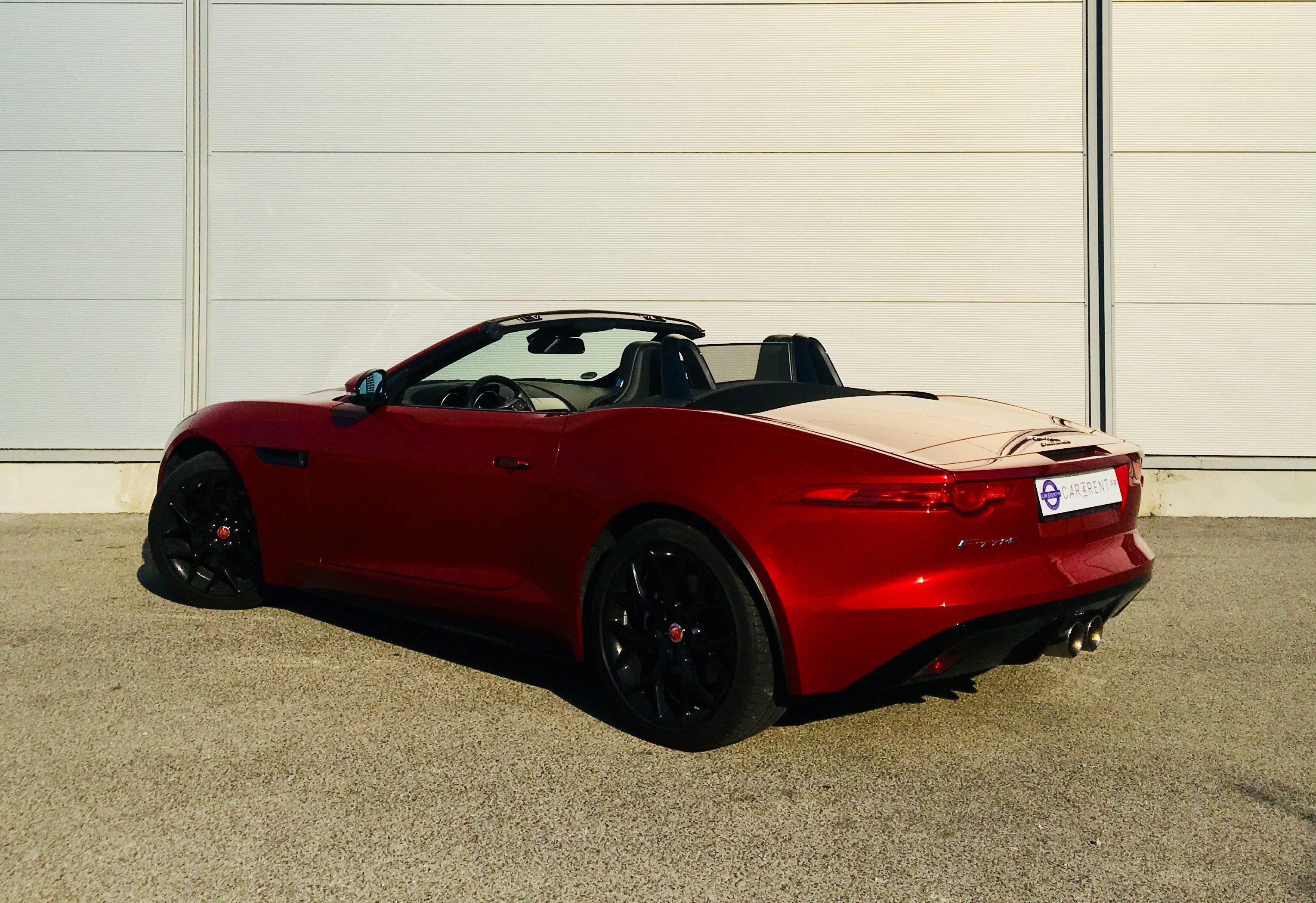 rent jaguar F-Type convertible Car4rent monaco