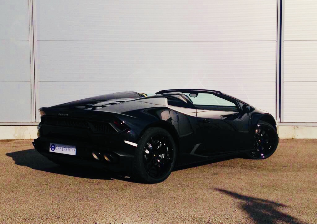 hire lamborghini huracan spyder Car4rent Cannes