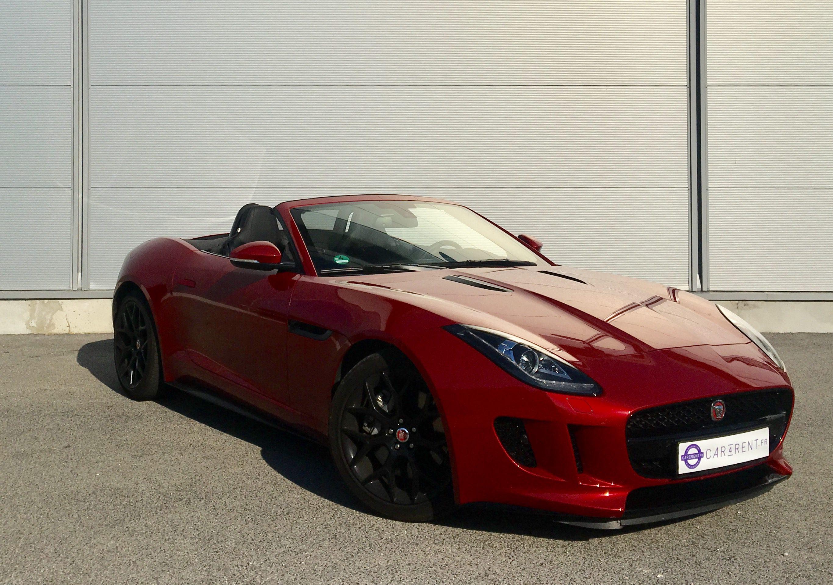 rent a jaguar F-Type Convertible car4rent saint-Tropez