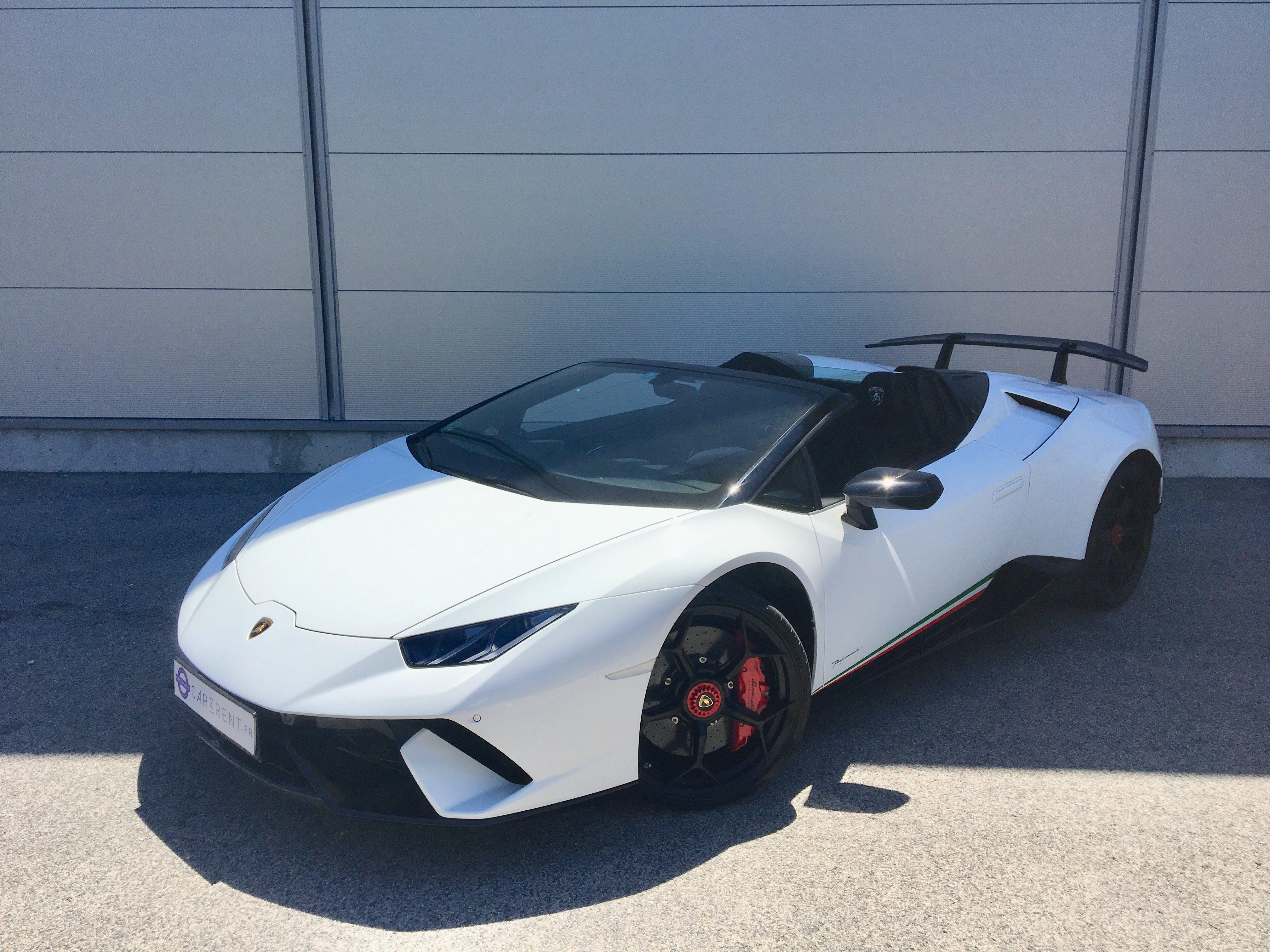 Lamborghini Huracn Perdormante spyder for rent