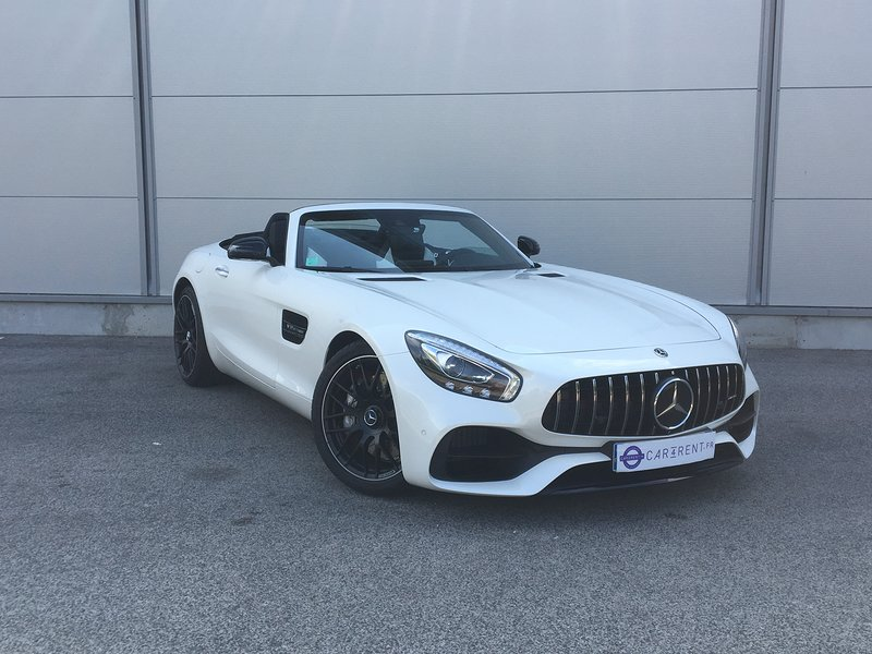 Mercedes AMG GT Roadster for rent Cannes Car4rent