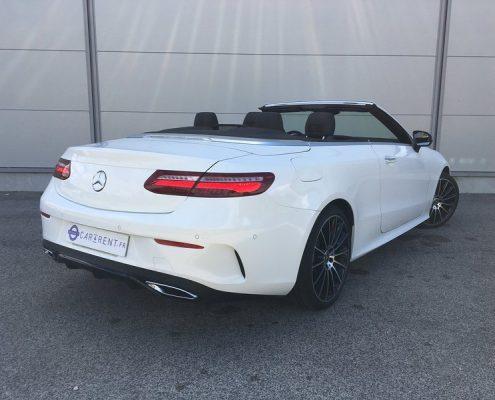 Mercedes E-Cabriolet à louer aéroport de Nice Car4rent