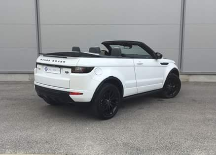 rent a evoque convertible thanks to Car4rent Cannes