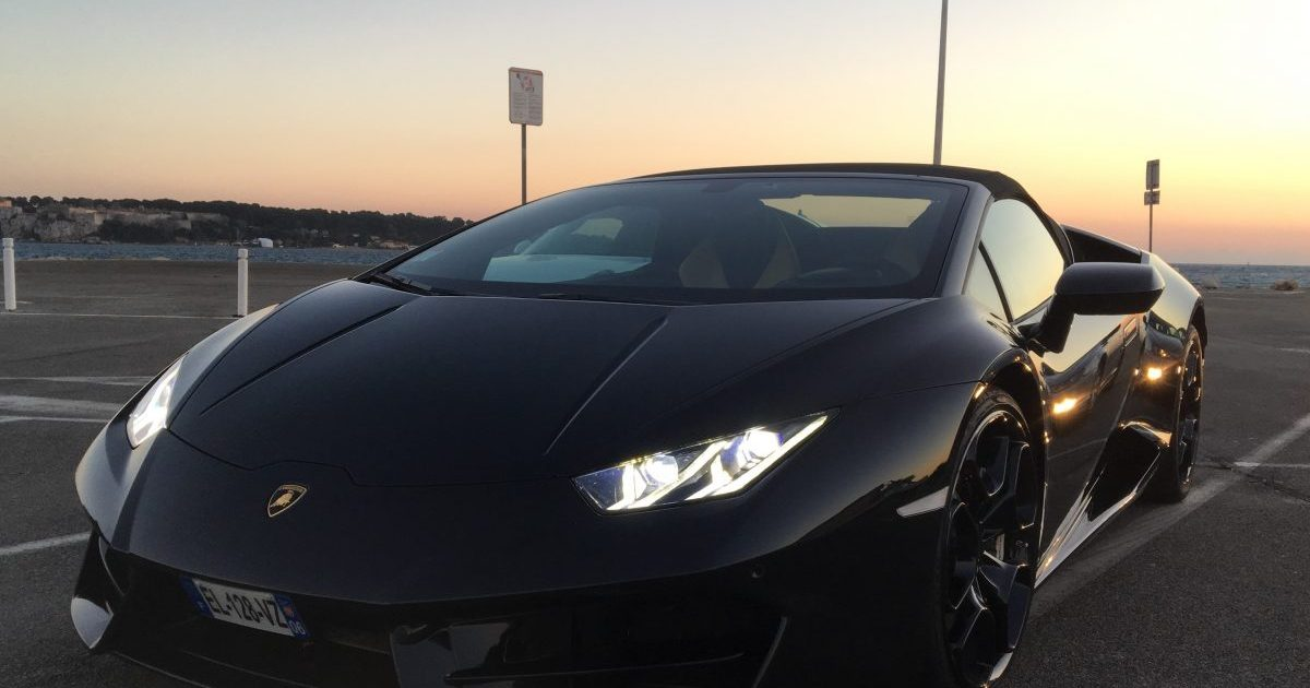 Lamborghini Huracan Spyder rental Cannes